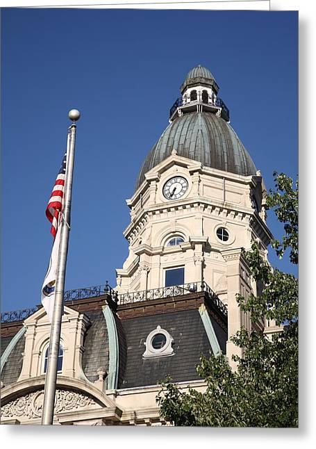 Indiana Photography Greeting Cards - Terre Haute Indiana - Courthouse Greeting Card by Frank Romeo