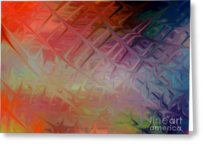 Purple Abstract Greeting Cards - Terrealium Web Greeting Card by Anita Lewis