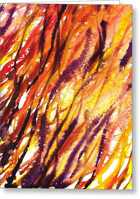 Abstract Movement Greeting Cards - Terrestrial Lines Abstract I Greeting Card by Irina Sztukowski
