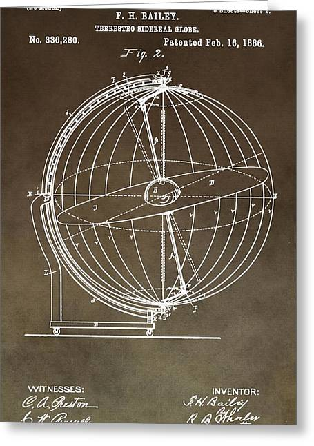 Sidereal Greeting Cards - Terrestro Sidereal Globe Greeting Card by Dan Sproul