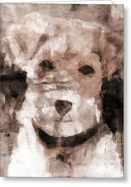 Fine Mixed Media Greeting Cards - Terrier I Greeting Card by Lutz Baar