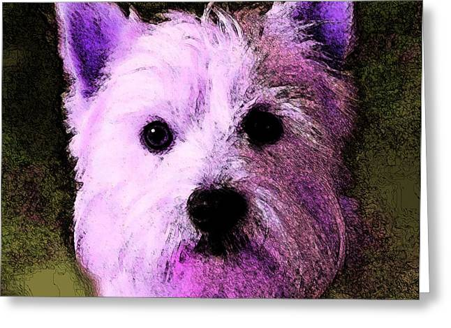 Terrier Love Greeting Card by George Pedro