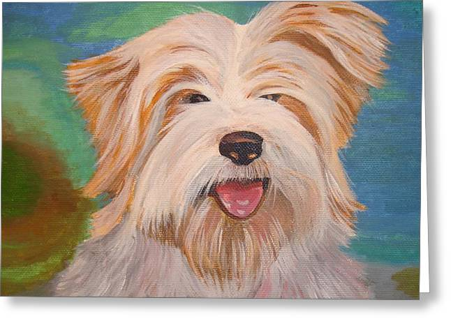 Tracey Harrington-simpson Greeting Cards - Terrier Portrait Greeting Card by Tracey Harrington-Simpson