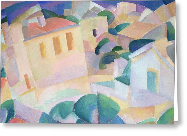 House Greeting Cards - Terrino, Mallorca, 1914 Greeting Card by Leo Gestel