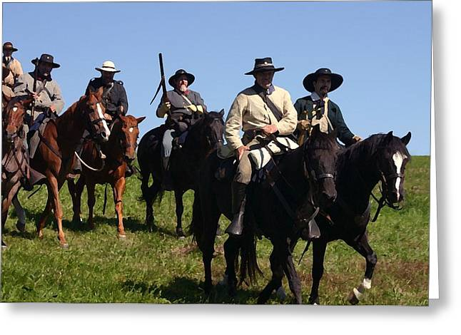 Confederacy Digital Art Greeting Cards - Terrys Texas Rangers I - Perryville KY Greeting Card by Thia Stover