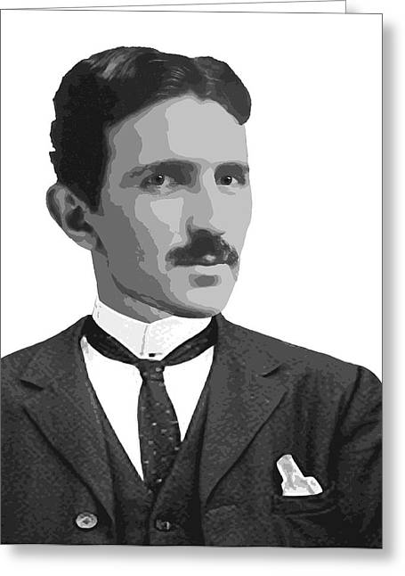Electrical Engineer Greeting Cards - Tesla Greeting Card by Daniel Hagerman