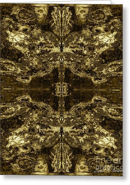 Warm Tones Digital Art Greeting Cards - Tessellation No. 2 Greeting Card by David Gordon