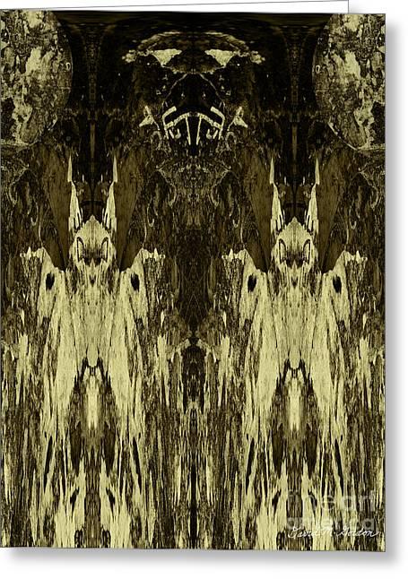 Anthropomorphic Digital Greeting Cards - Tessellation No. 3 Greeting Card by David Gordon