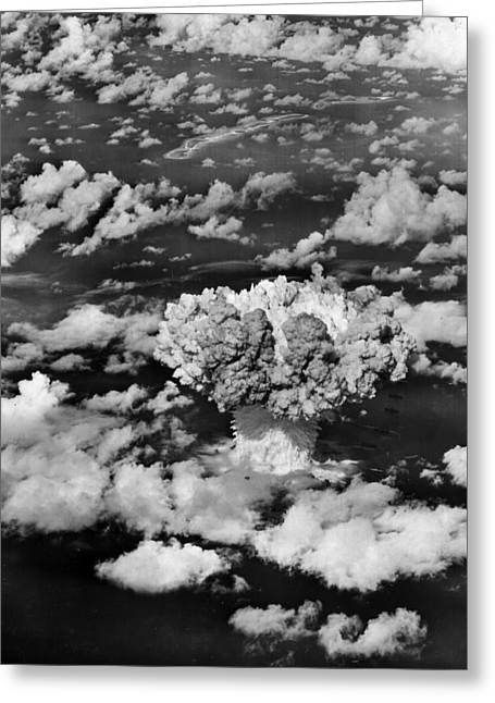 Atom Bomb Greeting Cards - Test Baker Greeting Card by Benjamin Yeager