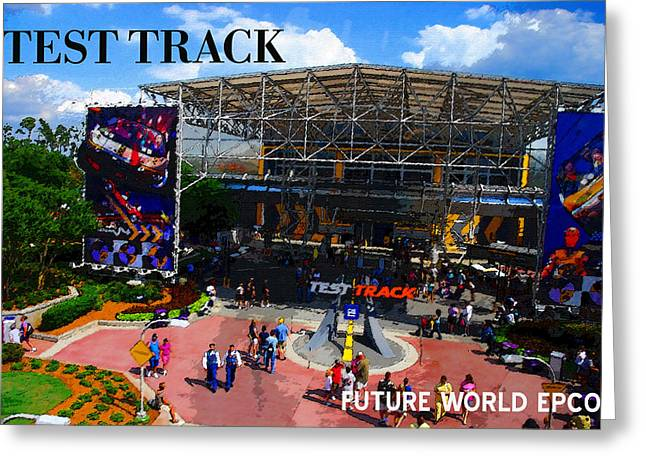 Future World Greeting Cards - Test Track opening 1999 Greeting Card by David Lee Thompson