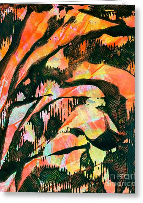 Pen And Paper Greeting Cards - Tethered Layers Greeting Card by Laura L Leatherwood