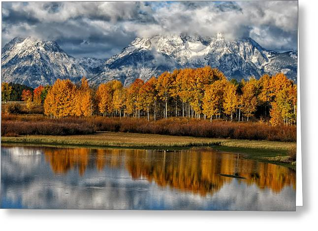 Bishops Peak Greeting Cards - Teton Autumn Greeting Card by Kathleen Bishop