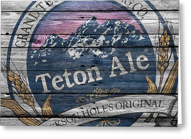 Tetons Greeting Cards - Teton Brewing Greeting Card by Joe Hamilton