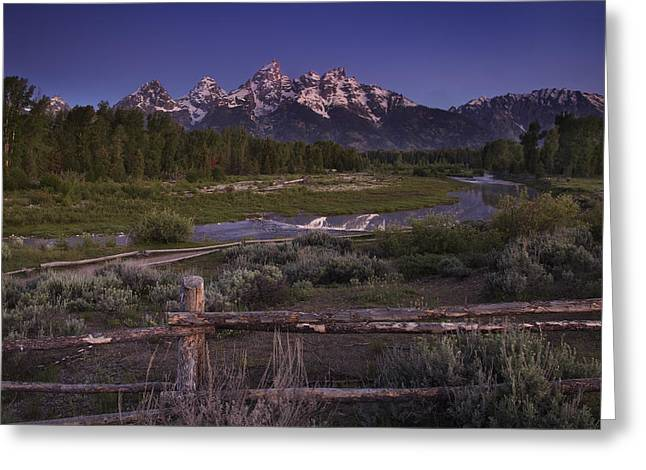 Tetons Greeting Cards - Teton Countryside Greeting Card by Andrew Soundarajan