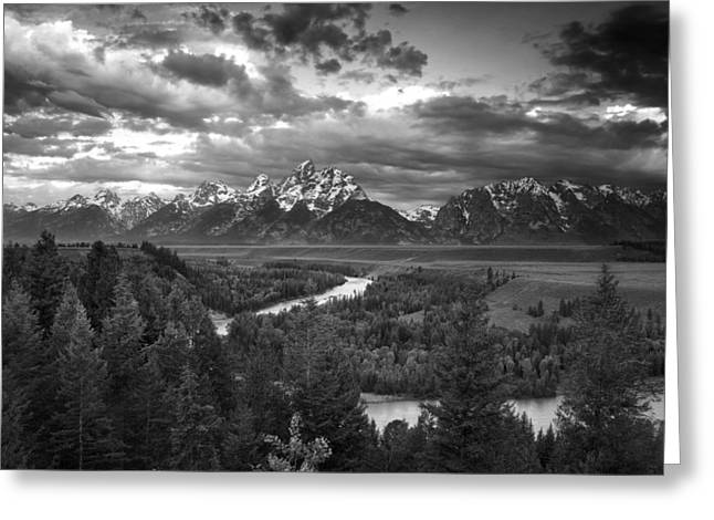 Scenery Greeting Cards - Teton Drama Greeting Card by Andrew Soundarajan