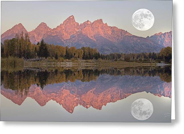 Teton Morning Greeting Card by Charlene  Aycock