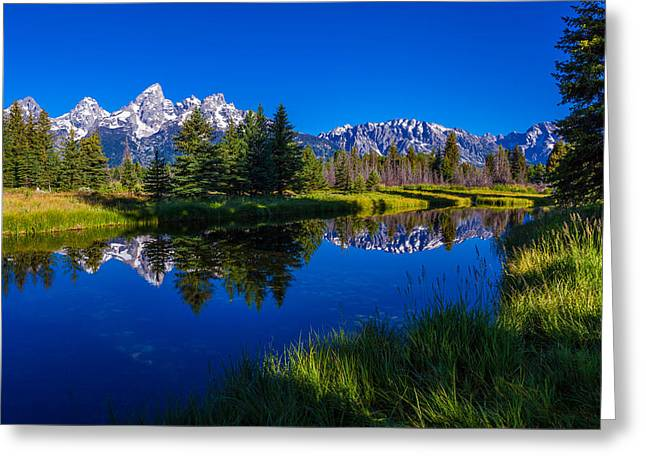 Teton Reflection Greeting Card by Chad Dutson