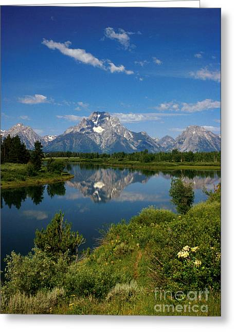 Jerry West Greeting Cards - Teton Reflection Greeting Card by Jerry McElroy