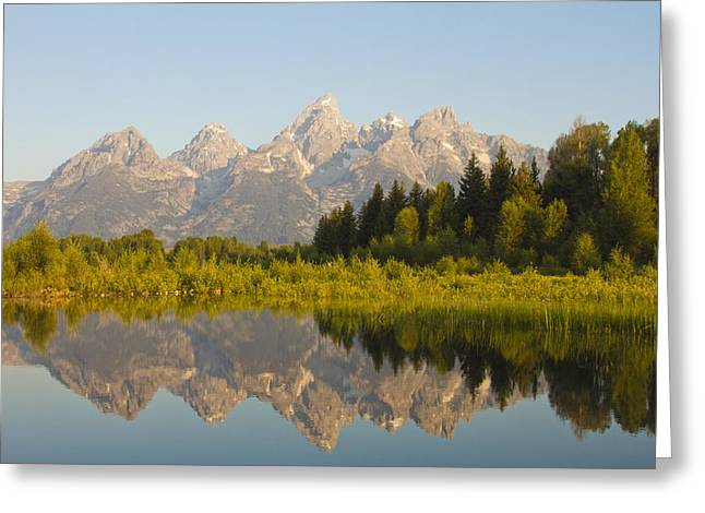 Pond Grand Tetons Greeting Cards - Teton Reflection Greeting Card by Ty Helbach