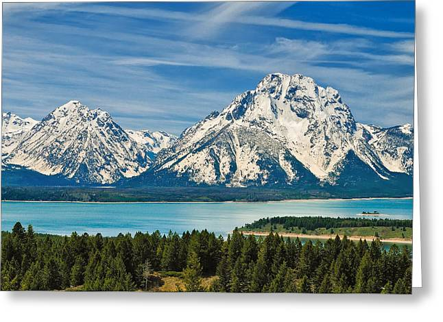 Teton Spring II Greeting Card by Greg Norrell