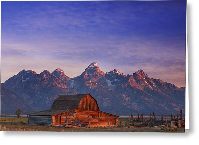 Teton Greeting Cards - Teton Sunrise Greeting Card by Darren  White