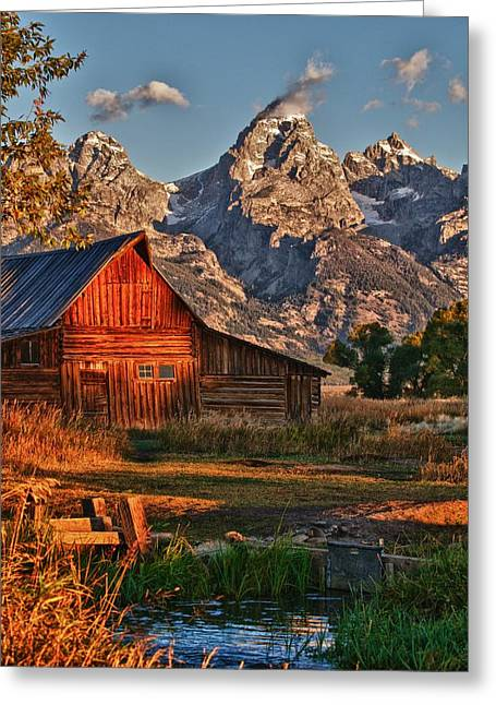 Teton Sunrise Greeting Card by Rob Wilson