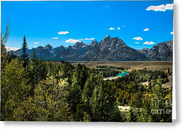 Outlook Greeting Cards - Tetons Mountains  II Greeting Card by Robert Bales