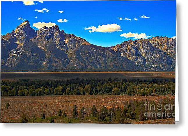 Outlook Greeting Cards - Tetons Mountians Greeting Card by Robert Bales