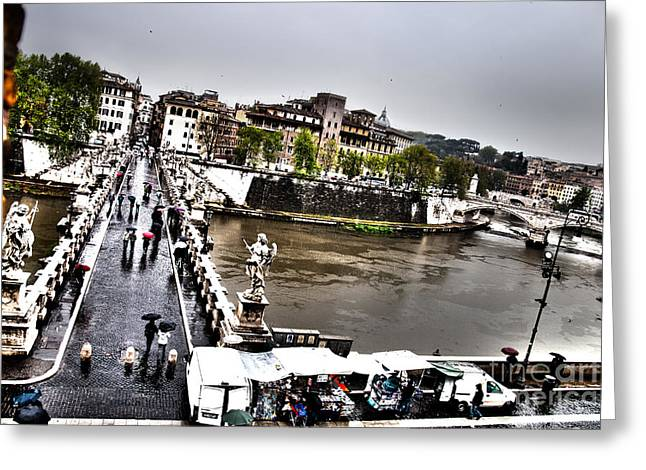 Tevere In Rain Greeting Card by Francesco Zappala