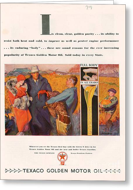 Twentieth Century Greeting Cards - Texaco 1928 1920s Usa Cc Oil Gas Petrol Greeting Card by The Advertising Archives