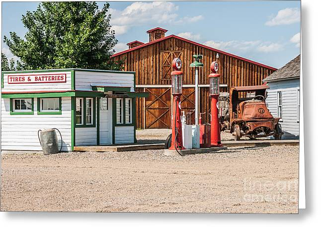 Sue Smith Greeting Cards - Texaco and Mack Greeting Card by Sue Smith