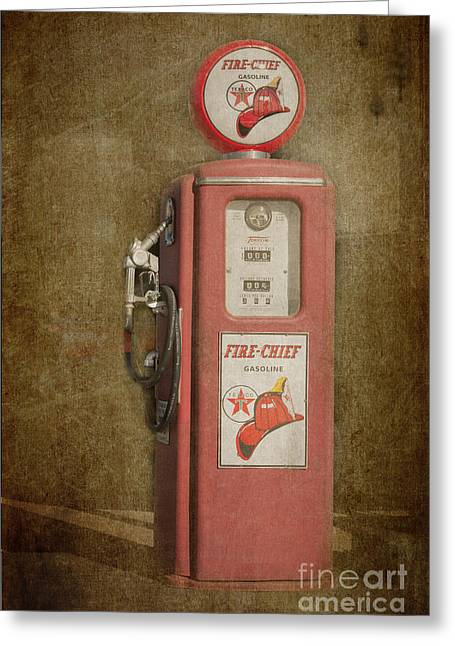 Mechanism Photographs Greeting Cards - Texaco Fire Chief Greeting Card by Bob and Nancy Kendrick