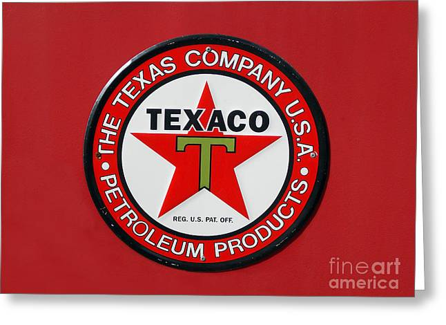 Car Part Greeting Cards - Texaco Greeting Card by Skip Willits
