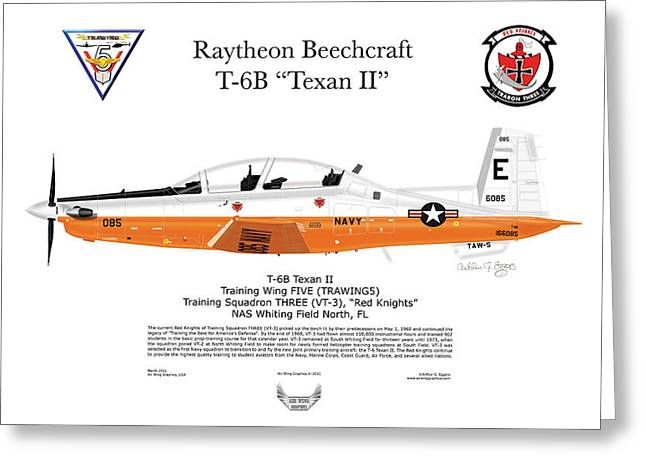 Steve Eggers Greeting Cards - Texan II T-6B Greeting Card by Arthur Eggers