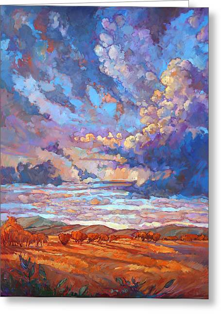 Big Sky Country Greeting Cards - Texan Sky Greeting Card by Erin Hanson