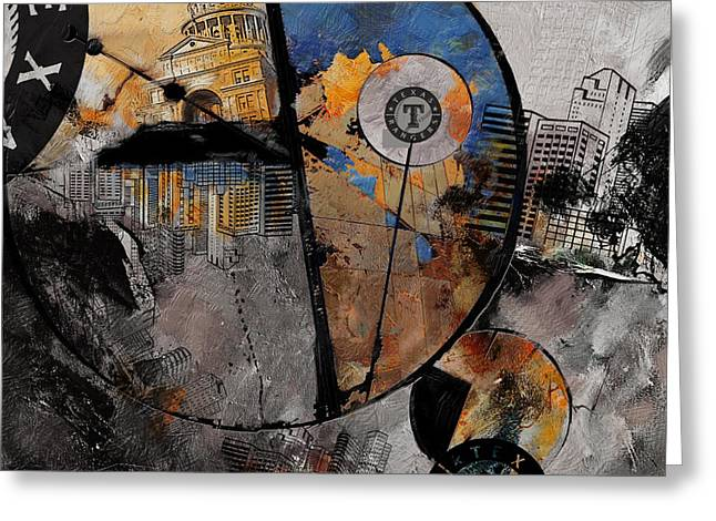 Las Vegas Art Paintings Greeting Cards - Texas - B Greeting Card by Corporate Art Task Force