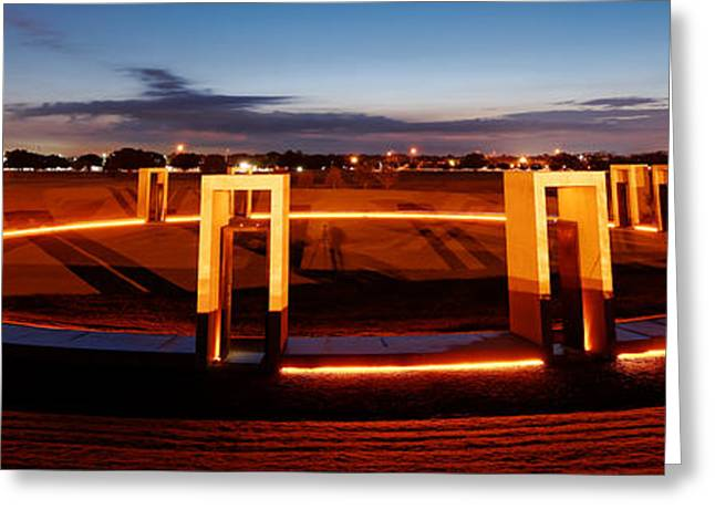 Home Of The Spirit Greeting Cards - Texas A and M Bonfire Memorial at Dawn - College Station Texa Greeting Card by Silvio Ligutti