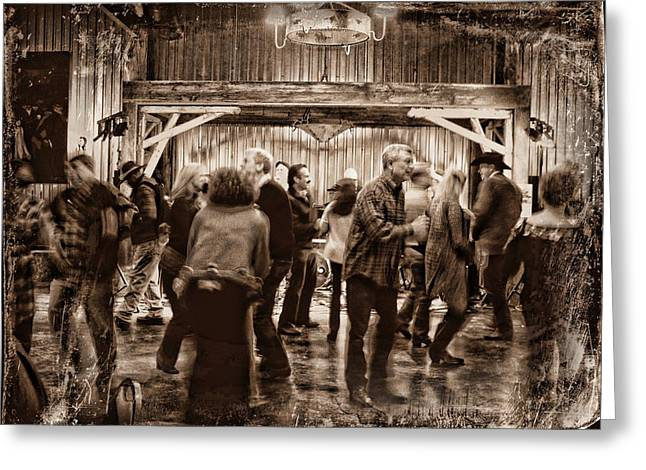 Barn Dance Greeting Cards - Barn Dance Greeting Card by Delilah Downs