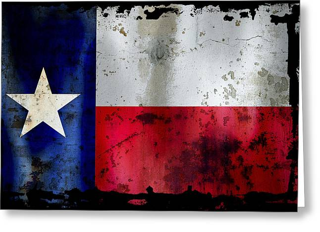 Texas Rodeo Greeting Cards - Texas Battle Flag Greeting Card by Daniel Hagerman