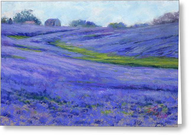 Spring Pastels Greeting Cards - Texas Blue Greeting Card by Billie Colson