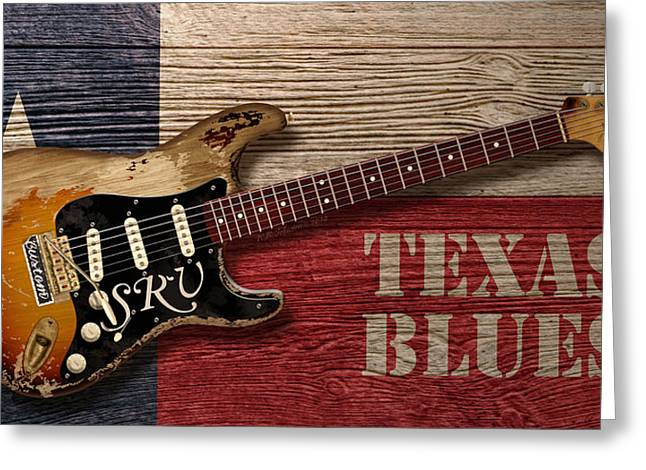Lone Star State Greeting Cards - Texas Blues Greeting Card by WB Johnston