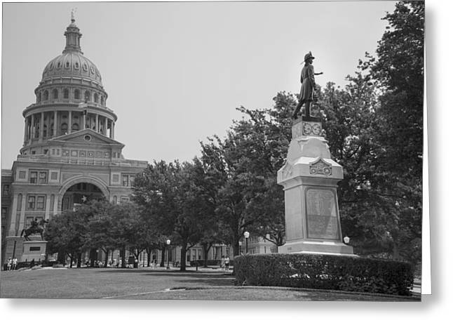 Austin At Night Greeting Cards - Texas Capital in  Austin  Greeting Card by John McGraw