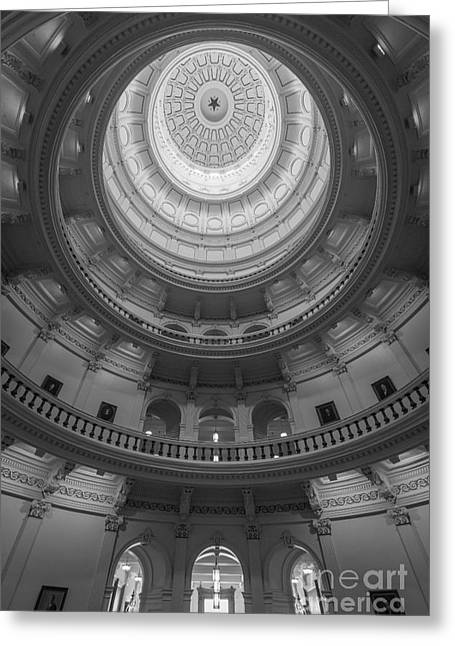Austin Landmarks Greeting Cards - Texas Capitol Dome Interior Greeting Card by Inge Johnsson