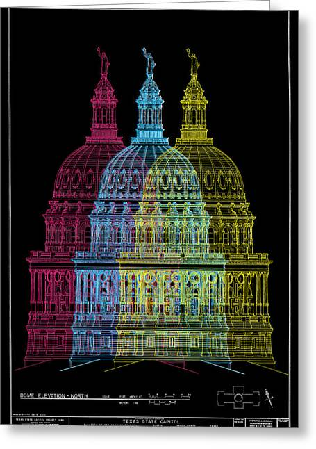 Capitol Digital Greeting Cards - Texas Capitol Greeting Card by Gary Grayson