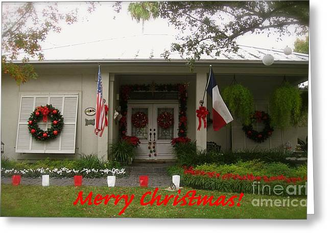 Bows Greeting Cards - Texas Christmas Greeting Card by Michael Anthony