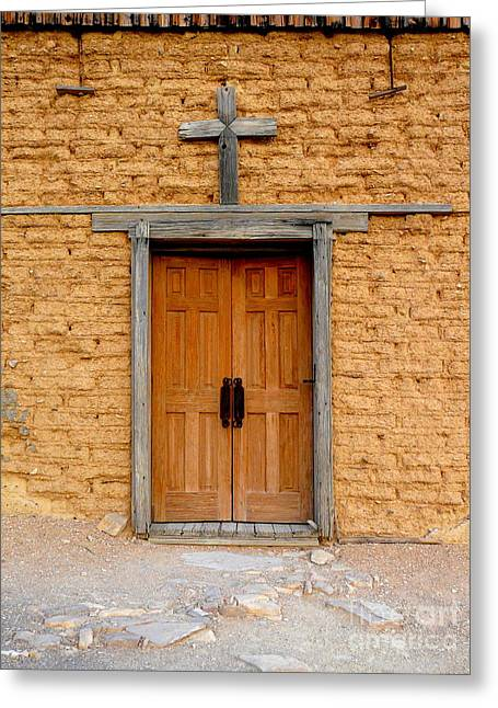 Terlingua Texas Greeting Cards - Texas Church Greeting Card by Avis  Noelle