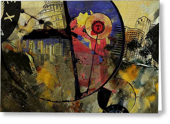 Las Vegas Art Paintings Greeting Cards - Texas  Greeting Card by Corporate Art Task Force