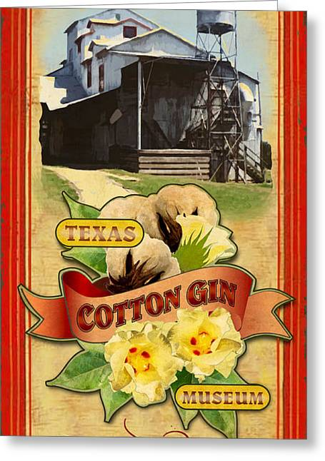 Burton Greeting Cards - Texas Cotton Gin Museum Burton Greeting Card by Jim Sanders