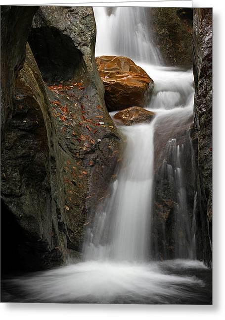 Vermont Photographs Greeting Cards - Texas Falls of Vermont Greeting Card by Juergen Roth