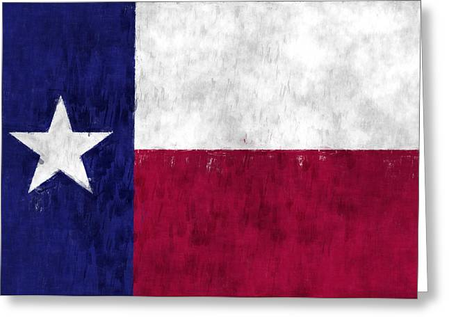 Flag Of Usa Greeting Cards - Texas Flag Greeting Card by World Art Prints And Designs